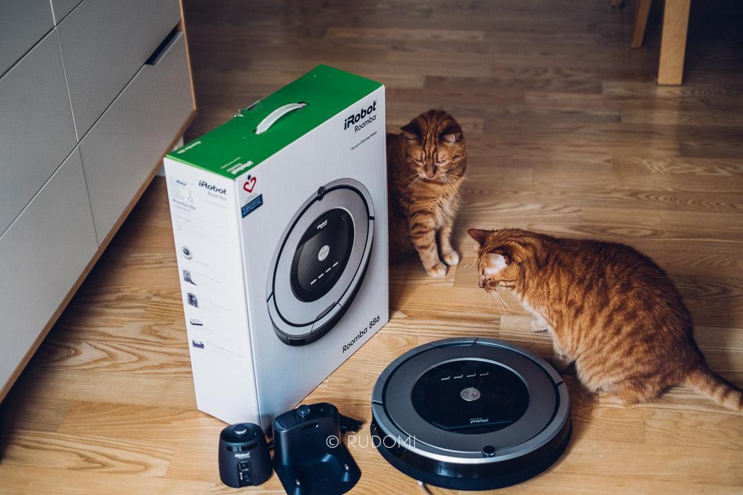 Roomba 886 i koty - inauguracja